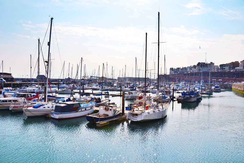 Ramsgate harbour boats by Pui-Ling Lau