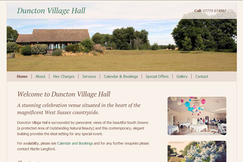 Duncton Village Hall - linglau.com - pui-ling lau - web developer and web designer