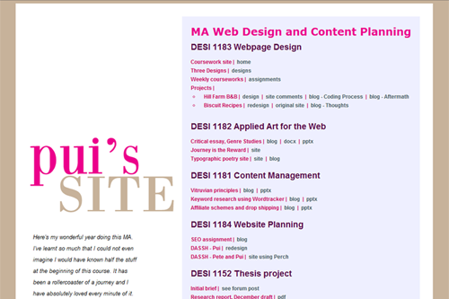 MA Portfolio Site - linglau.com - pui-ling lau - web developer and web designer