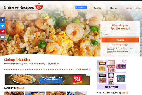 Chinese Recipes for All refresh - Pui-Ling Lau - Web developer and web designer - Kent and London